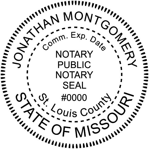 Missouri Notary Pink - Round Design Imprint