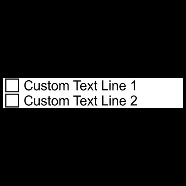 2 Line Checkbox Custom Rubber Stamp Imprint