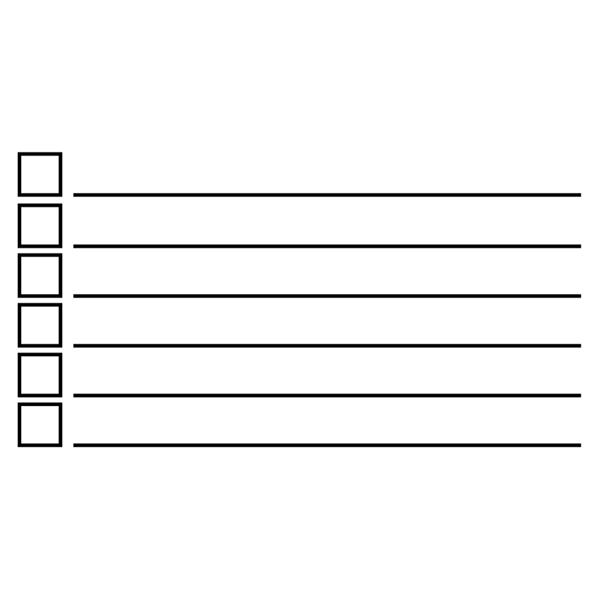 6 Line Checkbox Rubber Stamp Imprint