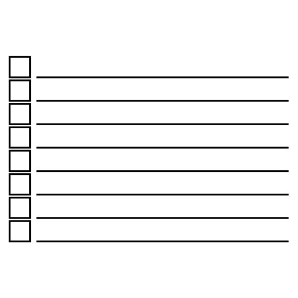 8 Line Checkbox Rubber Stamp Imprint