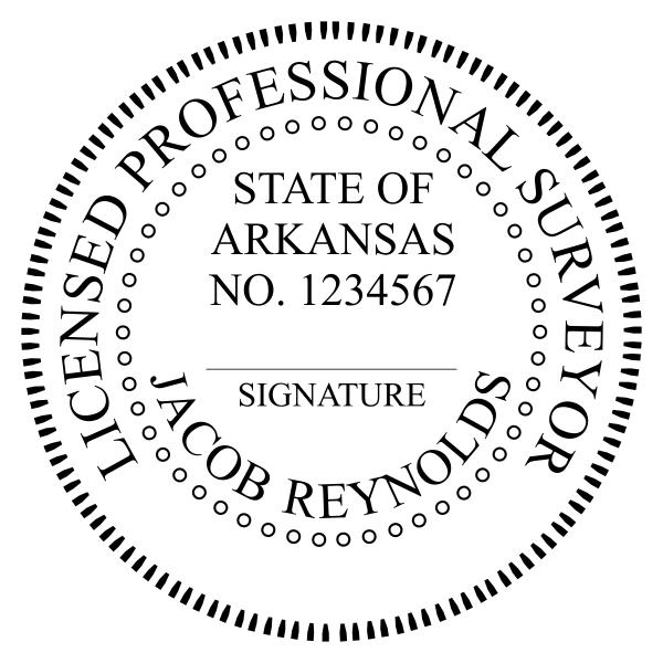 State of Arkansas Land Surveyor