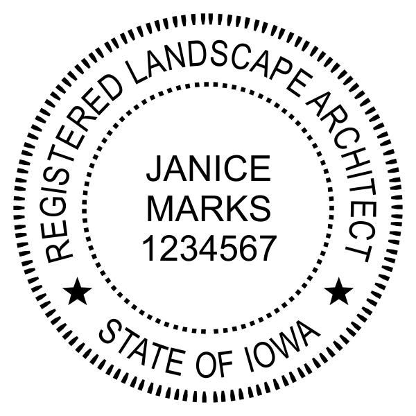 State of Iowa Landscape Architect