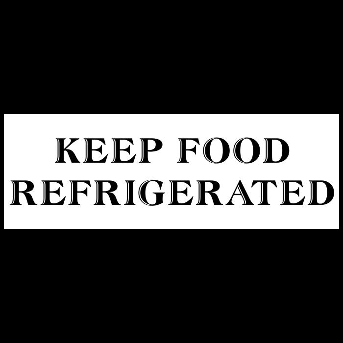 Keep Food Refrigerated Packaging Stamp Imprint
