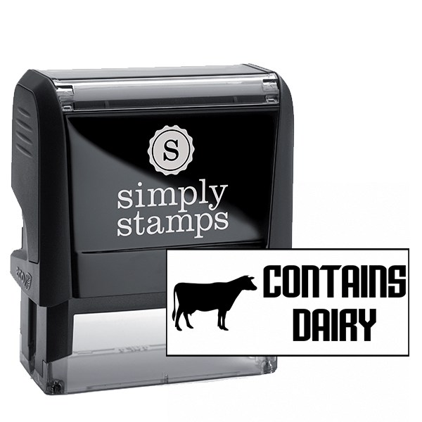 Contains Dairy Stamp