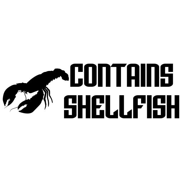 Contains Shellfish Stamp Imprint