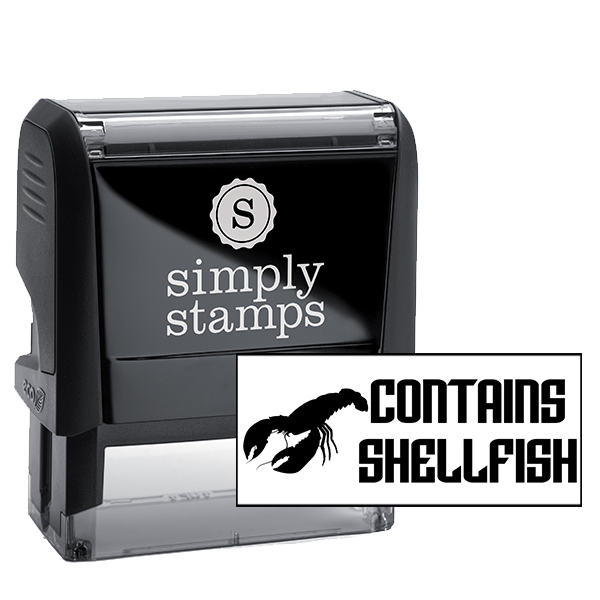 Contains Shellfish Stamp