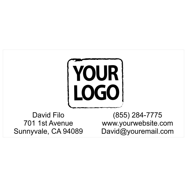 Logo Stamp with Contact Information - Stamp Imprint