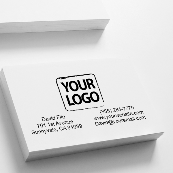 Logo Stamp with Contact Information