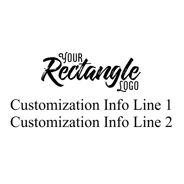 Rectangle Logo Embosser Seal with Text Impression