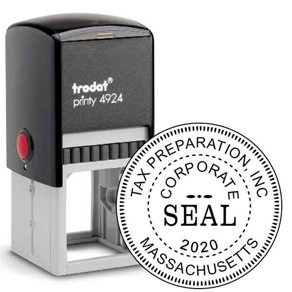 Corporate Seal Stamp with Year