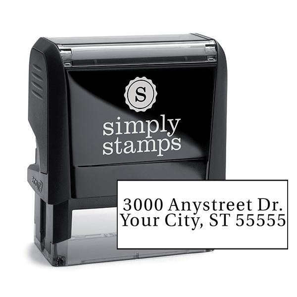 Serif Custom 2 Line Address Stamp