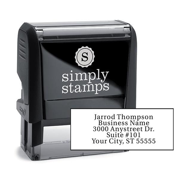 Serif Custom 5 Line Address Stamp