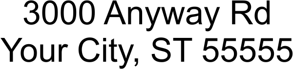 2 Line Address Stamp Imprint