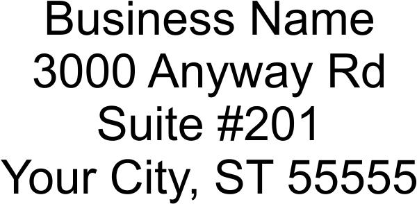 4 Line Address Stamp Imprint