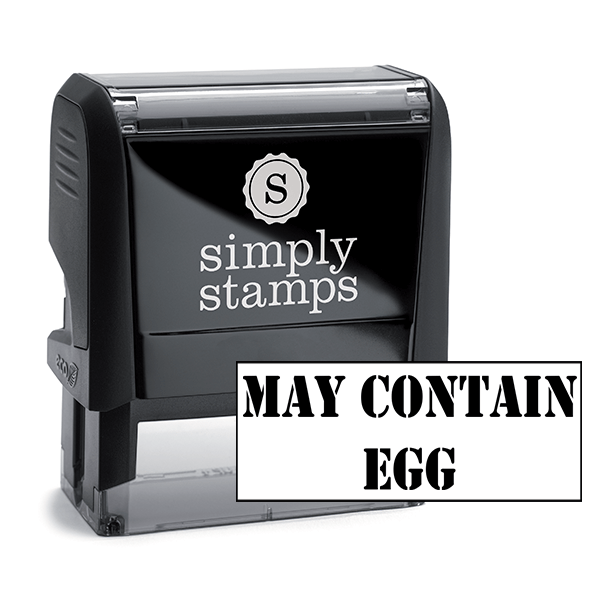 May Contain Custom Stamp