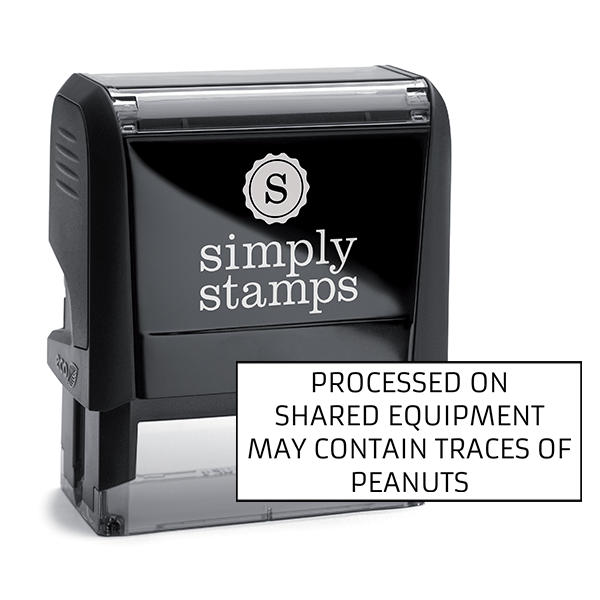 Processed In Facility On Shared Equipment Custom Stamp