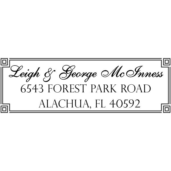 Alachua Fancy Border Address Stamp