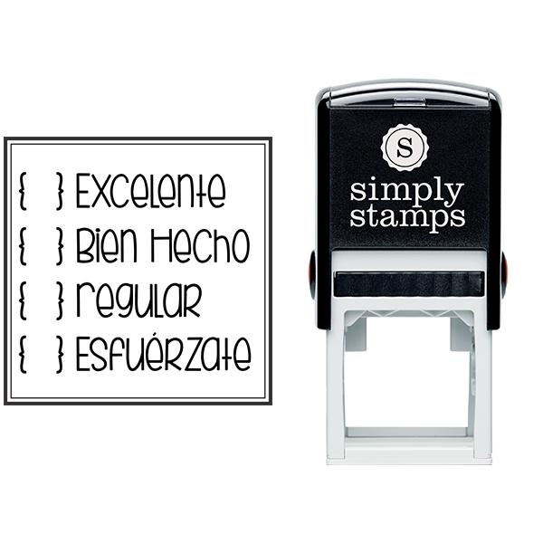 Spanish Teacher Grading Stamp Body and Design