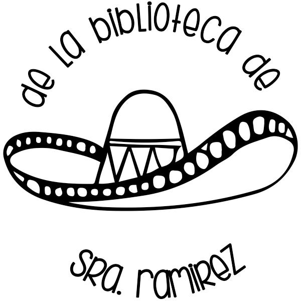 Spanish Library Teacher Stamp
