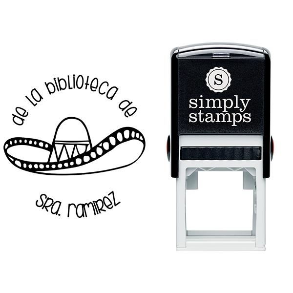 Spanish Library Teacher Stamp Body and Design