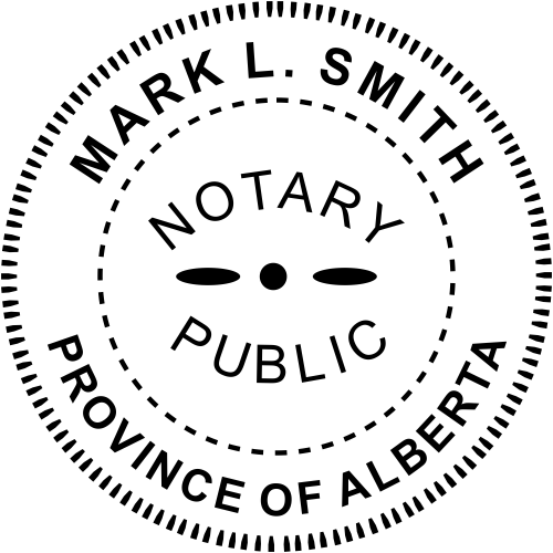 Alberta Canada Notary Seal Stamp