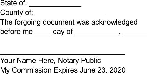 Custom notary rubber stamper