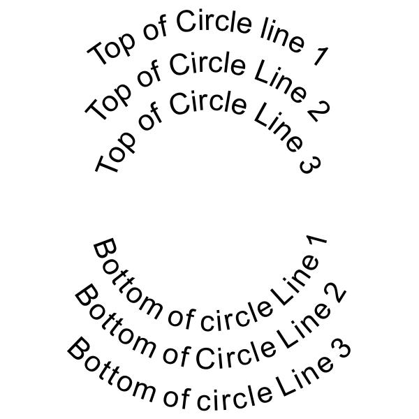 6 Line Round European Wood Handle Stamp