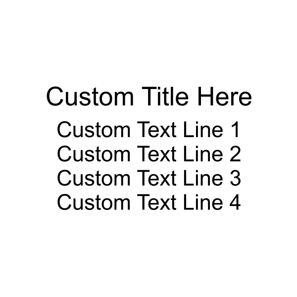 4 Lines With Title Custom Self-Inking Stamp Imprint