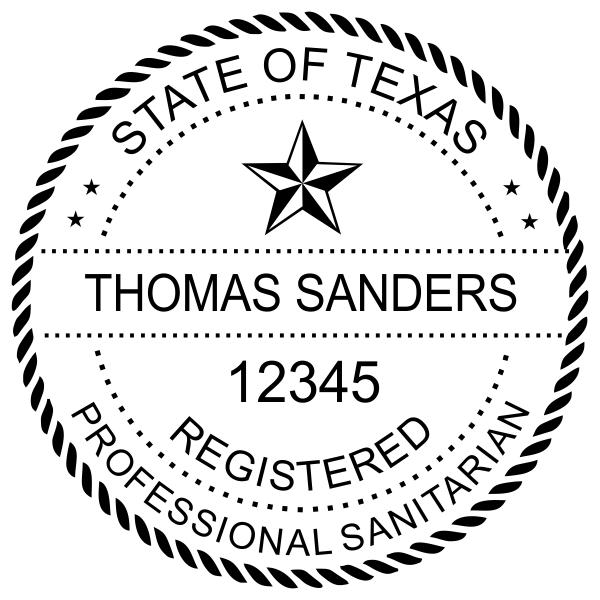 State of Texas Sanitarian Seal