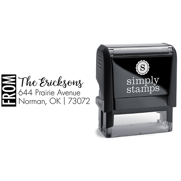 Color Block Family Of Address Stamp Body and Design