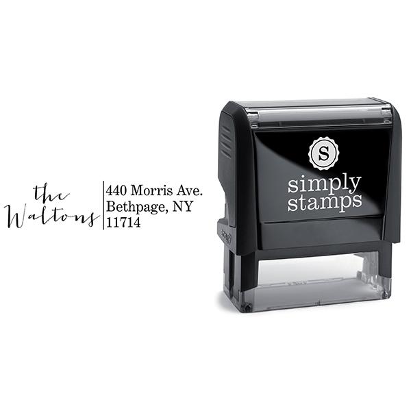 Modern Calligraphy Address Stamp Body and Design