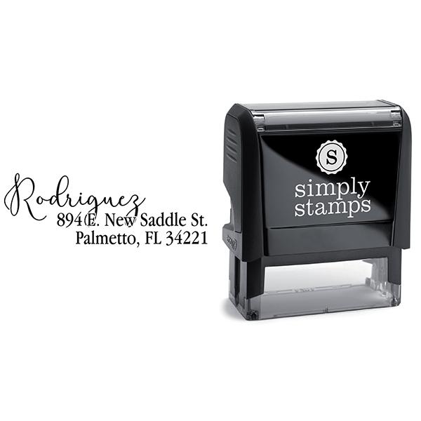 Script Overlay Address Stamp Body and Design