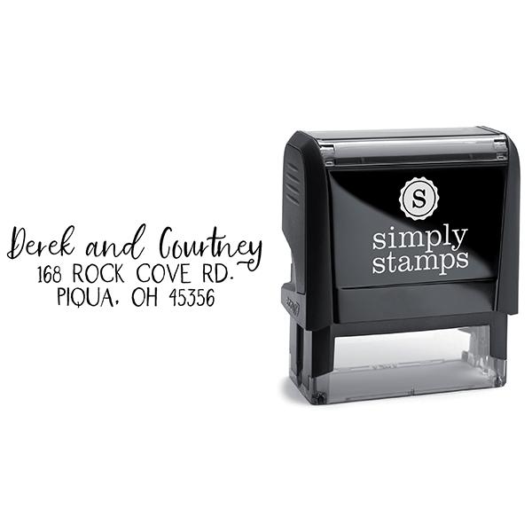 Farmhouse Script Address Stamp Body and Design