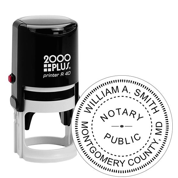 Maryland Notary Round Stamp