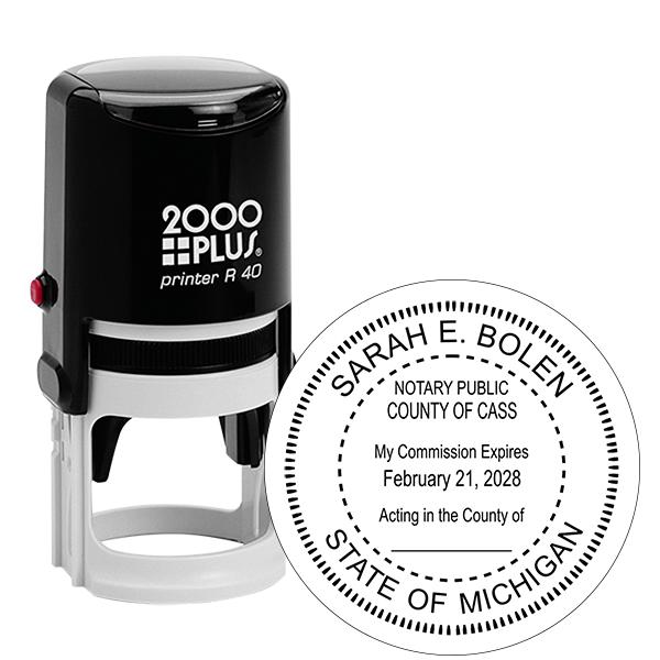 Michigan Notary Round Stamp
