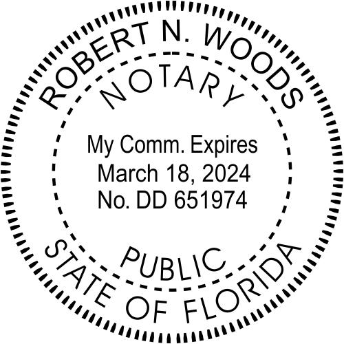 Florida Notary Seal Stamp