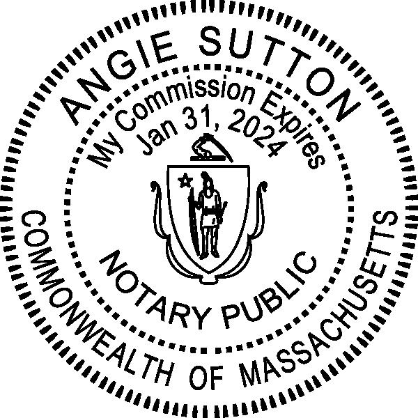Massachusetts Notary Round Seal Embosser