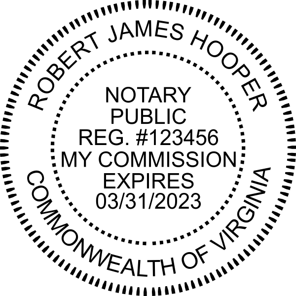 Virginia Notary Round Seal Embosser
