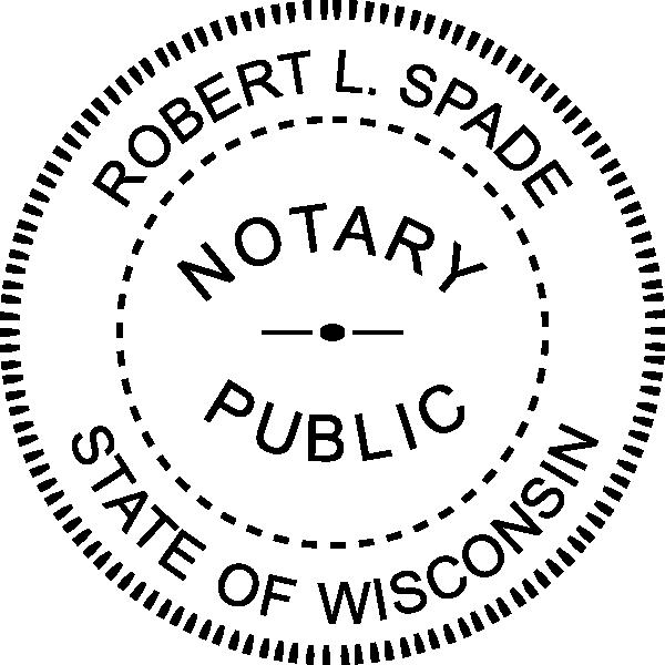 Wisconsin Notary Round  Seal Embosser