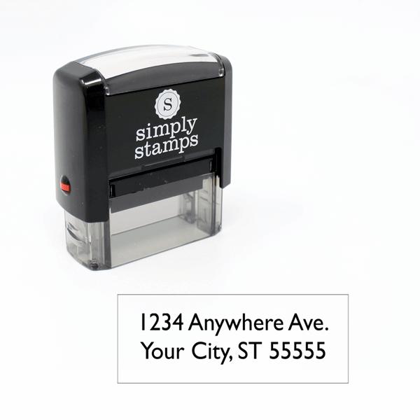 2 Line Self-inking Address Stamp