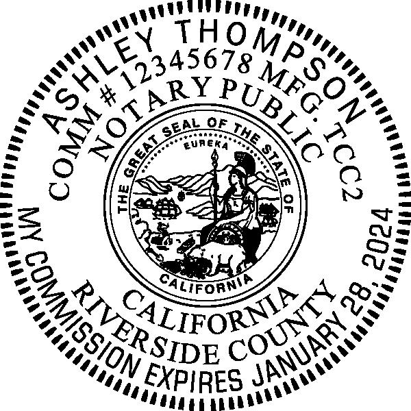 California Notary Pink Seal Embosser - Round