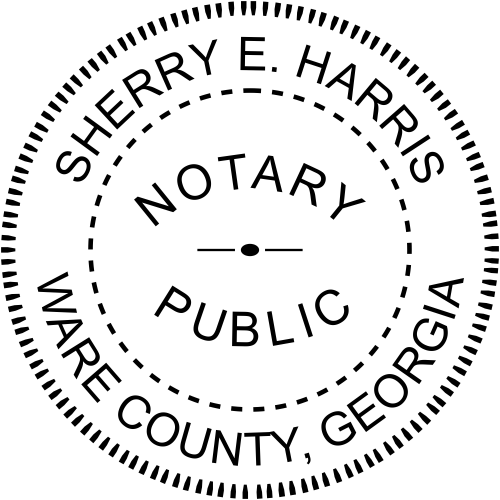 Georgia Official Notary Seal Rubber Stamp