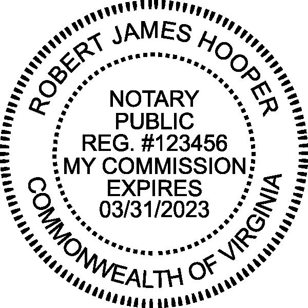 Virginia Notary Pink Seal Embosser - Round