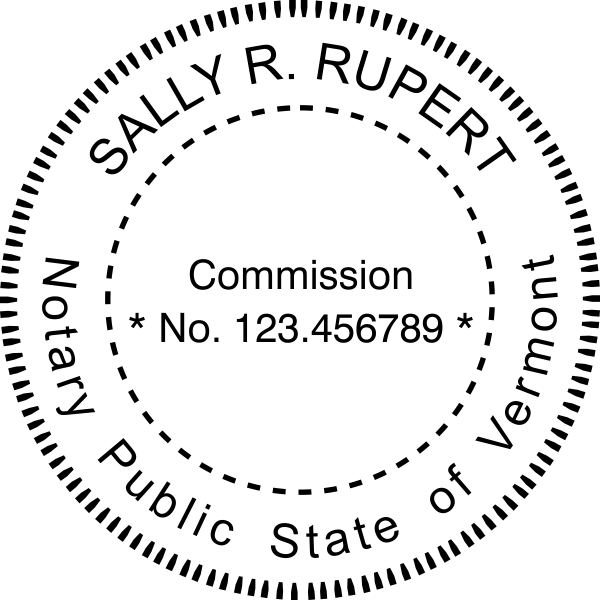 Vermont Notary Pink Seal Embosser - Round