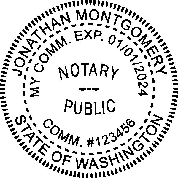 Washington Notary Pink Seal Embosser - Round