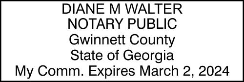 Georgia Notary Seal Stamp