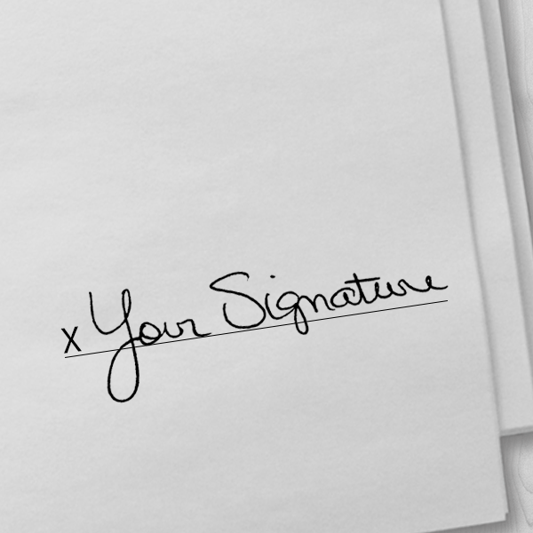 Custom Signature Stamp Imprint Example on Paper