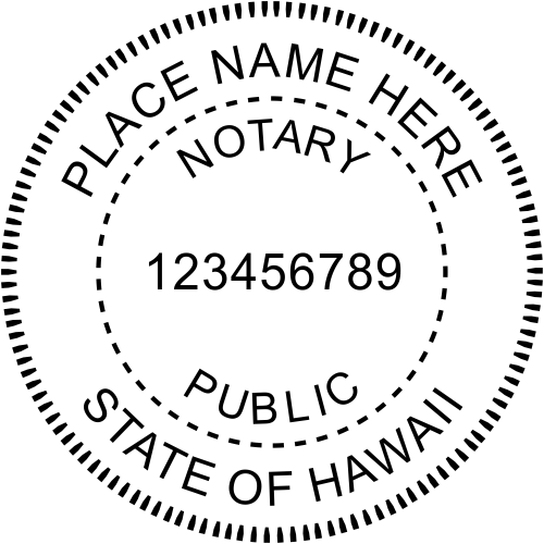 Hawaii Official Notary Seal Rubber Stamp