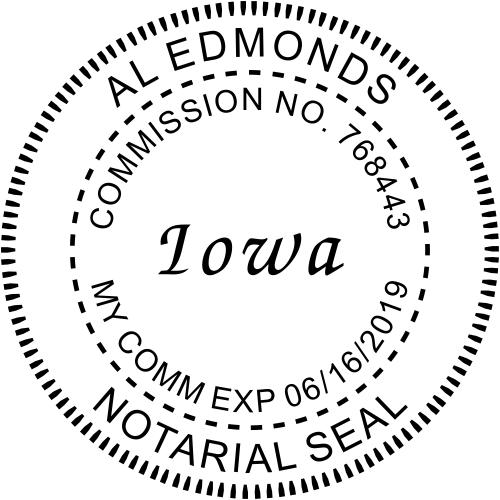 Iowa Round Notary Seal