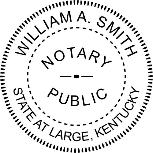 Kentucky Notary Round Stamp